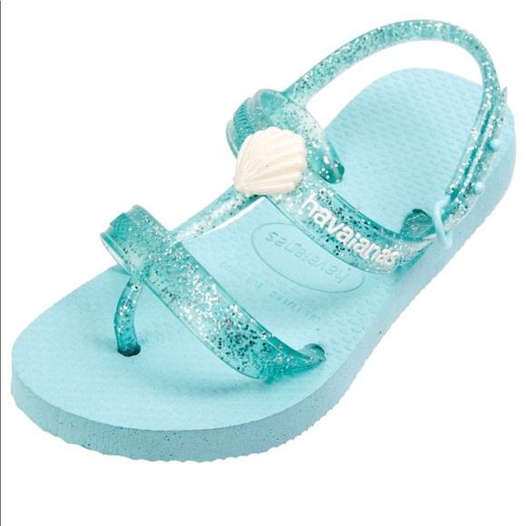 "940901c5ca92 Kids Havaianas ""Joy"" mermaid shell sandals. NWT."